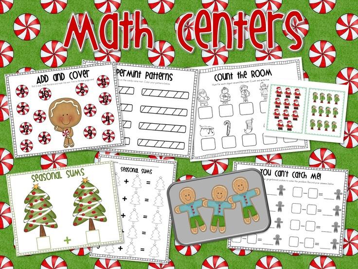 Mrs. Ricca's Kindergarten: Christmas Centers Pack + FREEBIE!