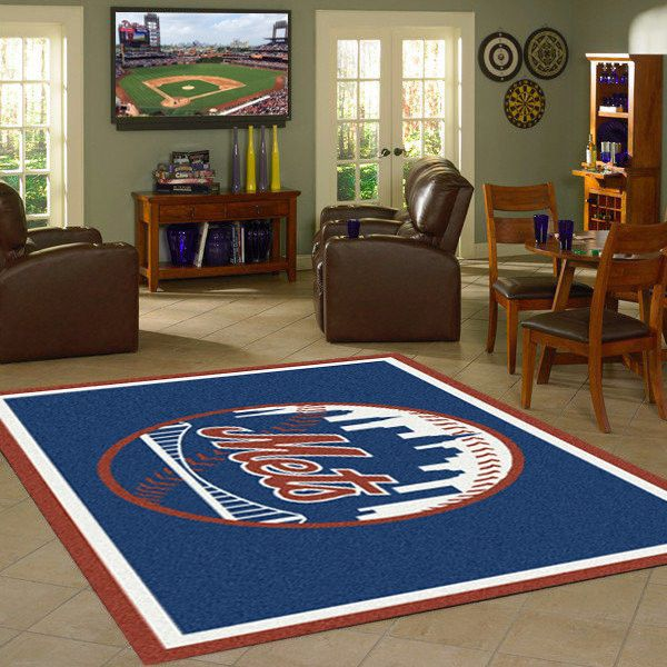 New York Mets MLB Team Logo Spirit Rug
