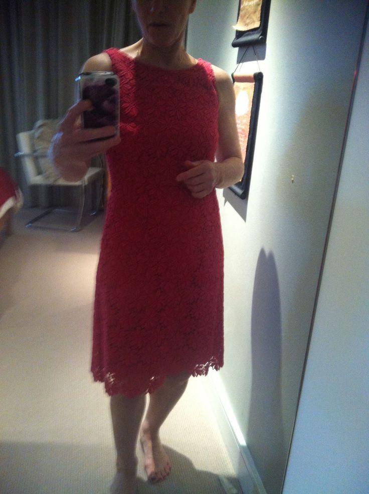 Raspberry CD lace dress - my favourite dress - Knee length