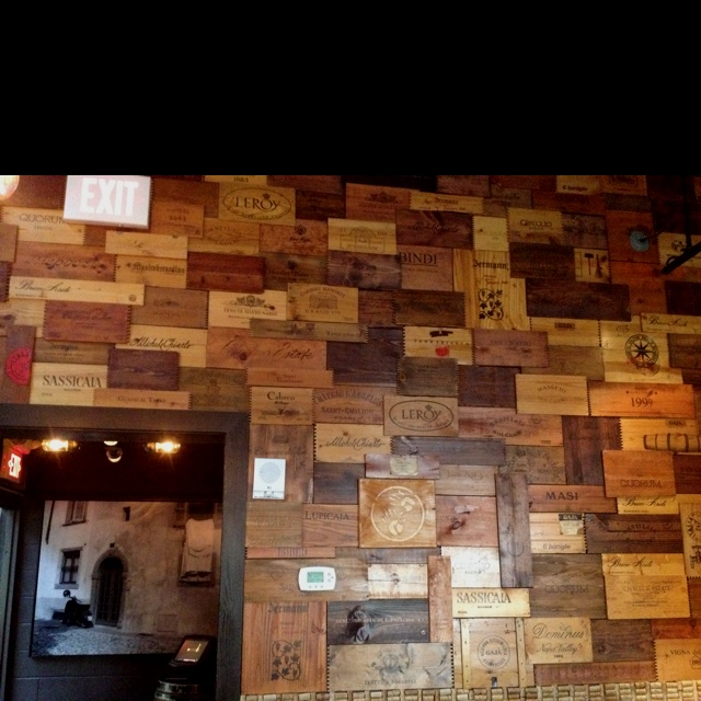 A Wine Crate Wall At Osteria In Philadelphia Design And
