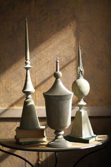 Castleberry Finials - Set of 3 - Metal Finials ...