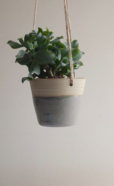 Grey Stoneware Hanging Planter - perfect for anyone who loves a bit of greenery inside