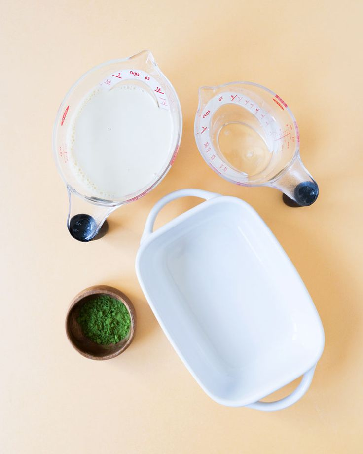 Matcha (tè verde) Latte Granita Ricetta