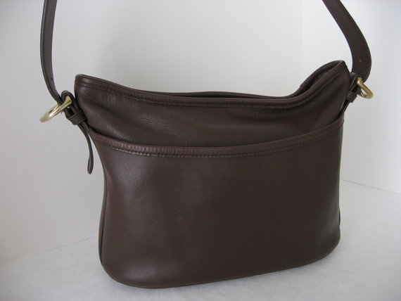 Coach Brown Leather Classic Purse Handbag Shoulder by mylilnycshop, $69.99