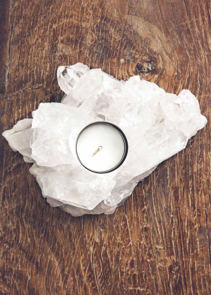 Clear Quartz Cluster Candleholder by SoulMakes #bohemian
