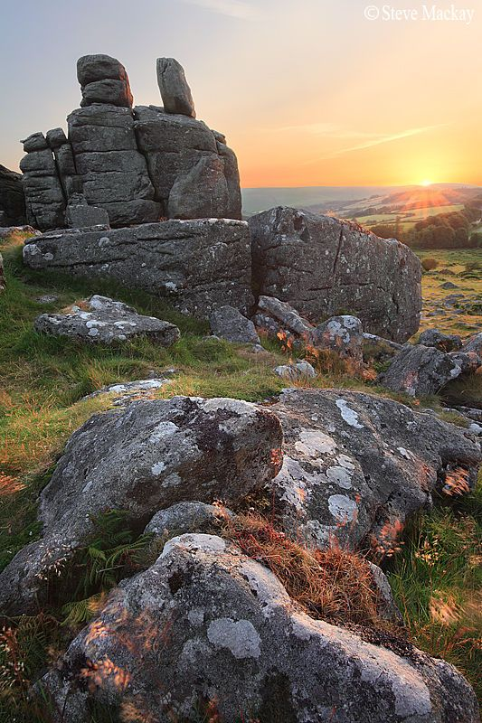 Hound Tor Sunset Beautiful scenery in the country for a weekend away.  http://www.landedhouses.co.uk