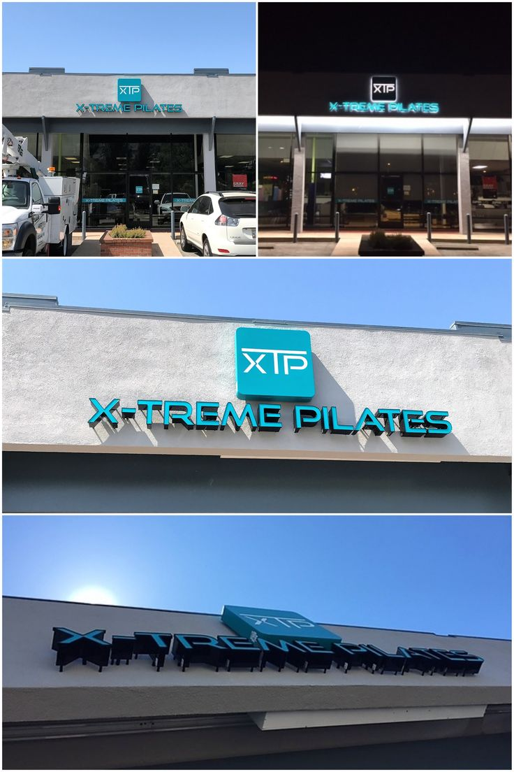 We made a compound channel letter sign for a pilates studio in La Canada Flintridge. They got a new logo so they needed a new storefront sign.    #signage #channelletters #pilates