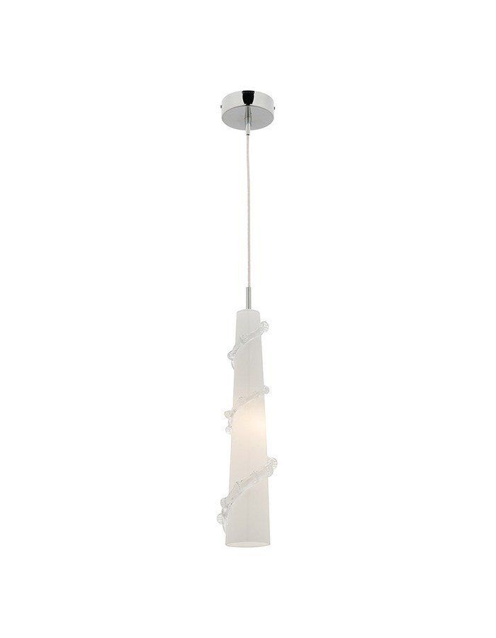 Pisa Gloss Opal Glass Pendant Light  The Pisa Gloss Opal Pendant Light from Cougar Lighting is truly a thing of beauty. Crafted from impeccable glass with a chrome finish, this pendant light has stunning gloss opal colouring that illuminates rooms, hallways, and entryways. It would also be perfect in a trio over a kitchen bench or island.