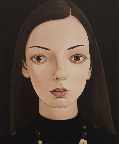 Peter Stichbury: Danijela. Acrylic on linen