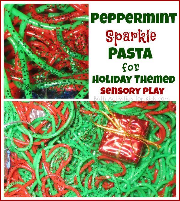 Christmas sensory pasta and play!