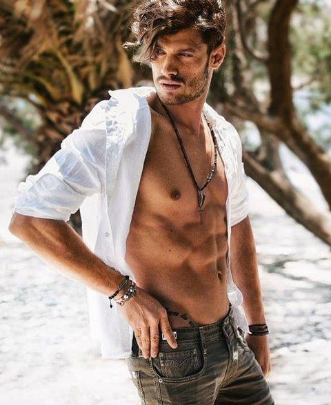 Stelios Niakaris for Icings SS 2017 campaign.    #male #model #handsome #sexy #hot #greek #man #boy #abs #beach #photoshoot #fashion #photography