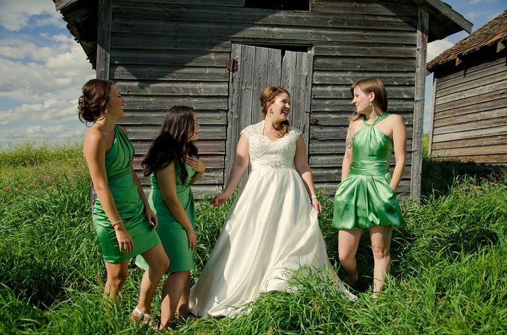 The bride and her bridesmaids! Beautiful day!