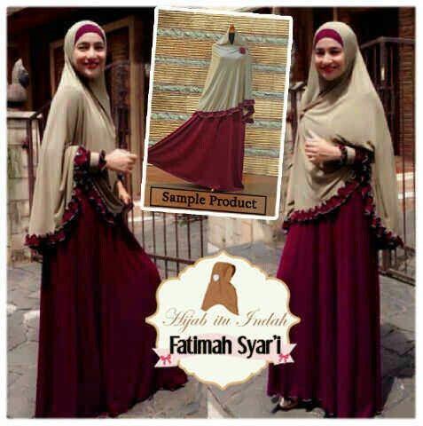 #bajumuslim FATIMAH SYAR'I, bahan jersey harga 110k www.ramailancar.com www.facebook.com/tokobajurajutmurah 0857 2212 6318
