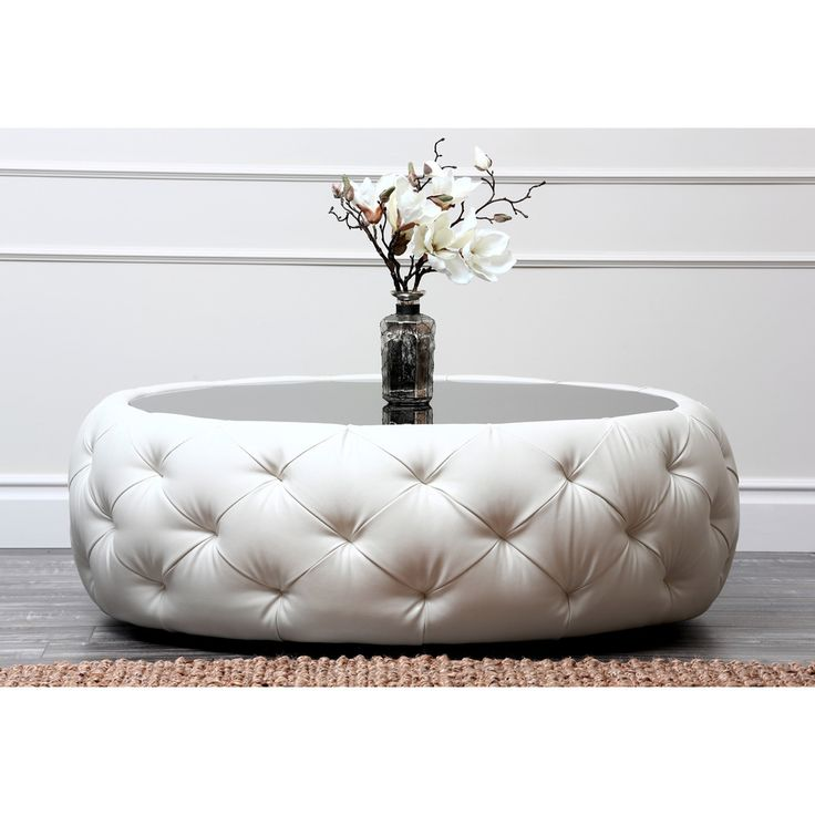 Abbyson Living Havana Round Leather Coffee Table - Overstock™ Shopping - Great Deals on Abbyson Living Coffee, Sofa & End Tables