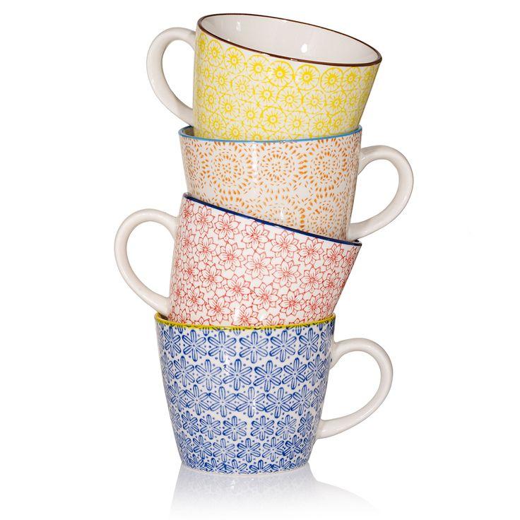 Colour Print Cups   Oliver Bonas