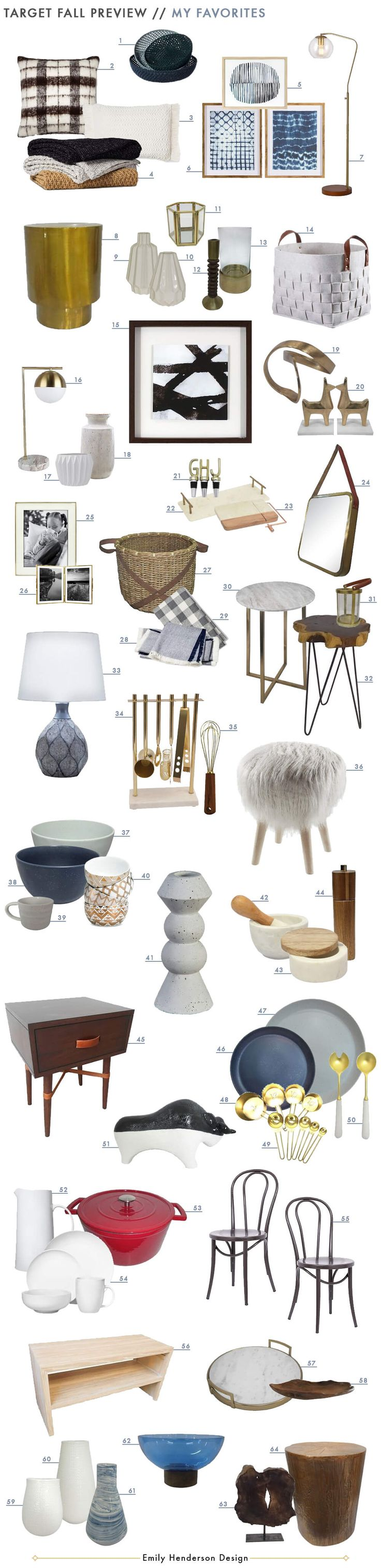 The New Target Fall Style Collection - so many great things; I need to stock up on all those vases