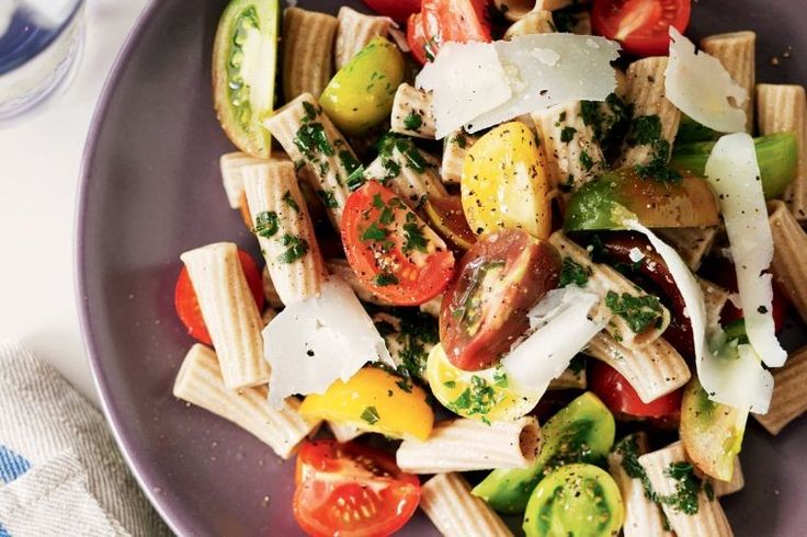 Make the most of fresh summer tomatoes with this cold pasta dish.
