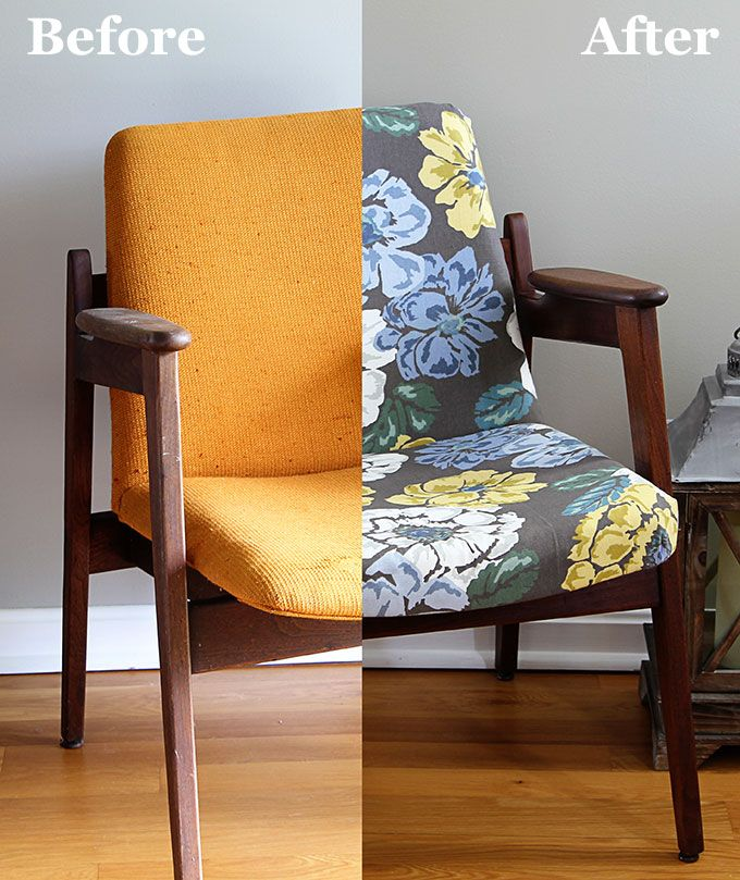 Learn how I took this ugly ratty orange Mid Century Modern chair from ugly to fabulously stylish.  The restoration includes reupholstering and wood refinishing. A DIY project that can be accomplished in a weekend.