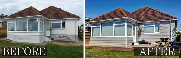 This 1960s coastal home has been transformed using Cedral Weatherboard from Marley Eternit