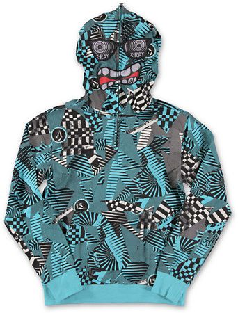 Volcom Boys Hide Out Half Zip Face Mask Hoodie at Zumiez : PDP