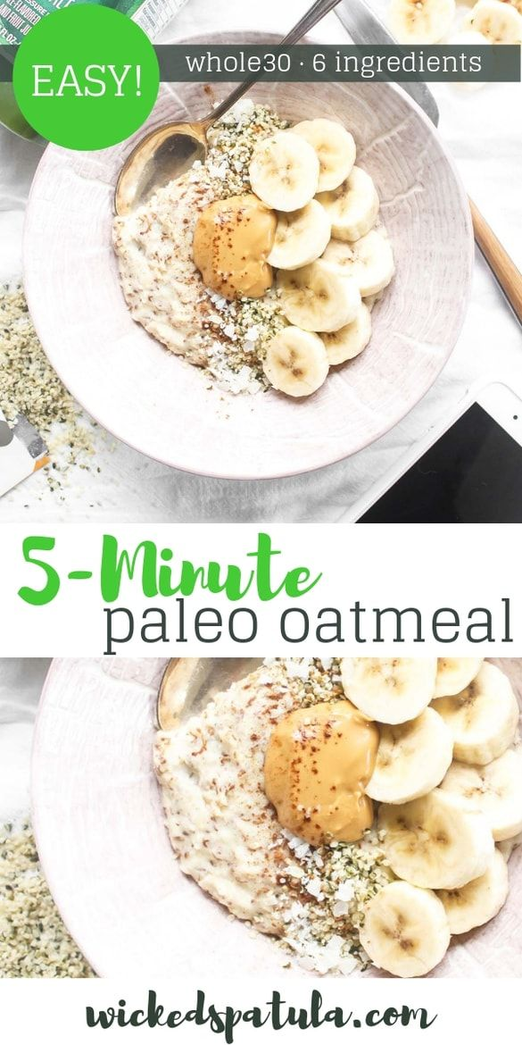 Paleo Oatmeal Learn How To Make This Easy Paleo Oatmeal Recipe It S Ready In Minutes Plus I M Shari Paleo Recipes Breakfast Paleo Breakfast Easy Easy Paleo