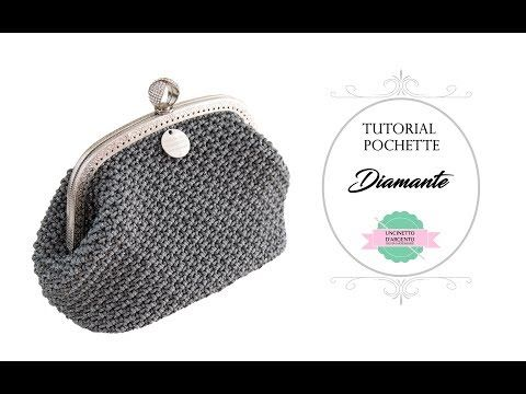 "TUTORIAL CROCHET POCHETTE ""DIAMANTE"" 