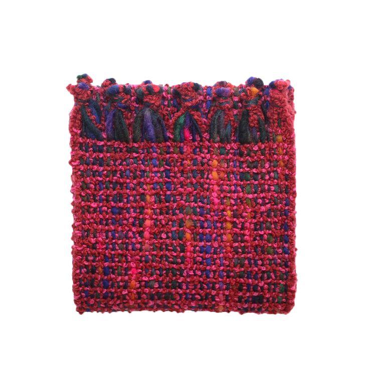Bubble scarf in Fuchsia    McKernan Woollen Mills   Handmade in Ireland   Irish Design   Mens and Womens scarves and accessories