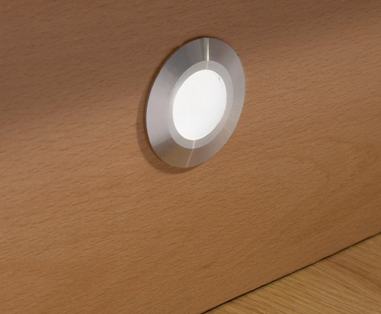 Round White Led Plinth Light
