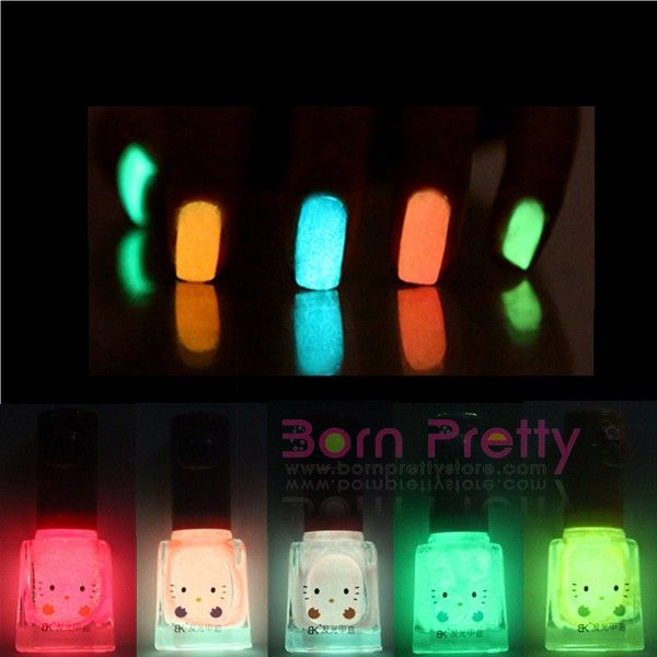 12ml Bk Candy Color Fluorescent Neon Luminous Nail Art Polish Glow in Dark