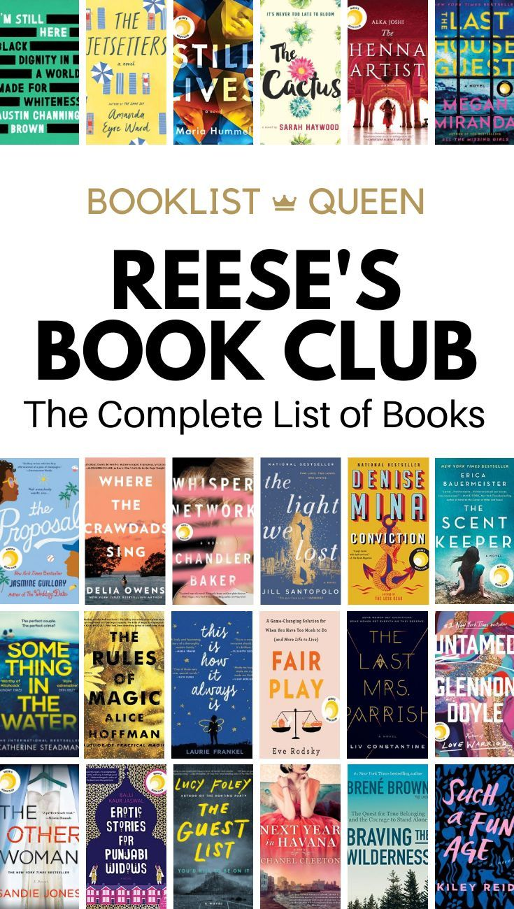 Reese Witherspoon's Book Club List Book club books, Book