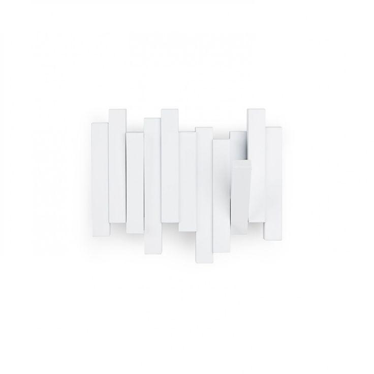 sticks wall hook + mail organizer white