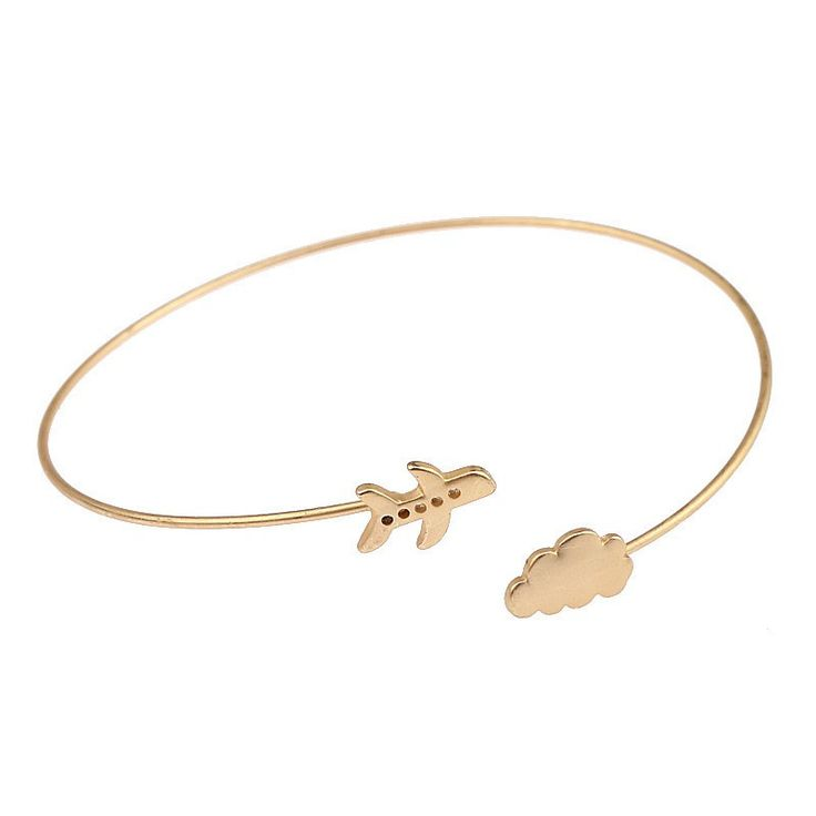 Airplane Cloud Traveller Bangle Bracelet