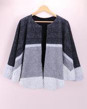 Handmade gray pure wool cape