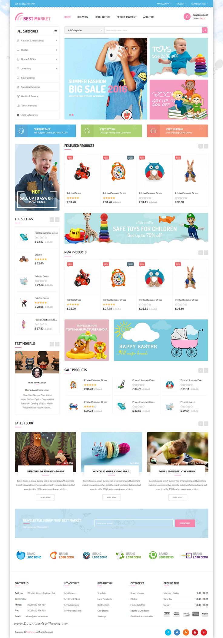Bestmarket is a modern, attractive Prestashop theme for multipurpose #kids #toys #shop eCommerce website with 6 amazing homepage layouts Download Now➝ https://themeforest.net/item/bestmarket-multipurpose-mega-shop-responsive-prestashop-theme/17168803?ref=Datasata