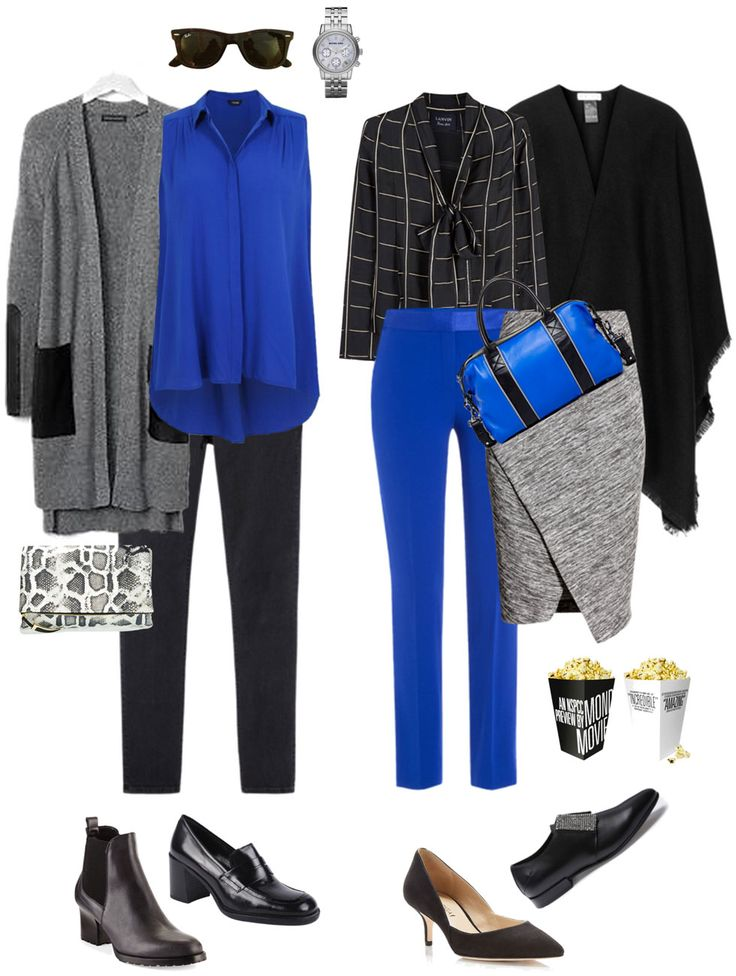 Ensemble: Grey, Black & Cobalt