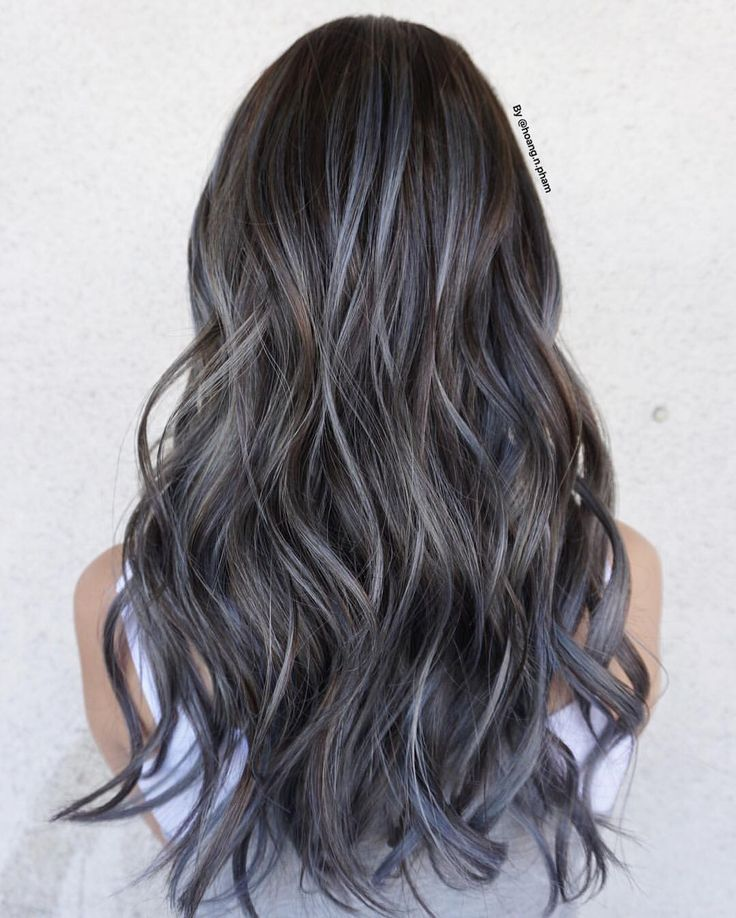 """513 Likes, 1 Comments - Hoang Nguyen Pham (@hoang.n.pham) on Instagram: """"Balayage silver with brown base   @american_salon @modernsalon @behindthechair_com @fanola_usa…"""""""