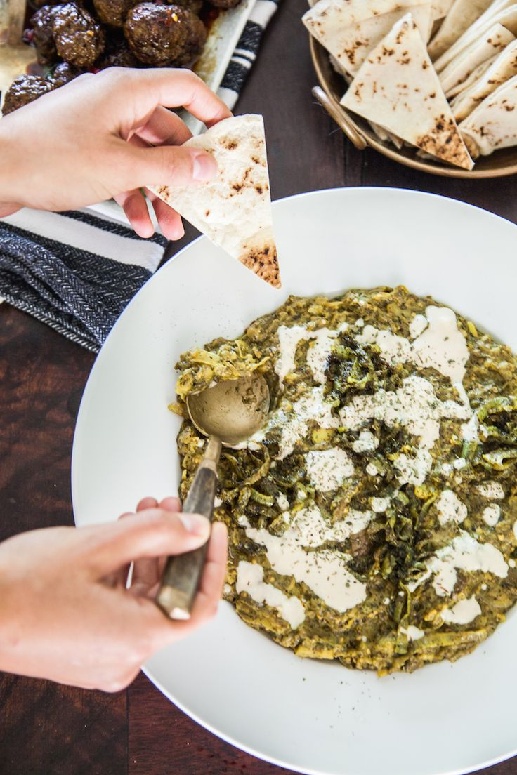 """Click here for the full """"Taste of Persian Cuisine"""" story.  Kashkeh Bademjan is popular Persian appetizer that can be eaten warm or at room temperature with toasted pita wedges, flat bread, or..."""