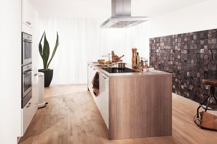 Krijtbord Achterwand Keuken : Collectie Keuken Isar Deze eigentijdse eilandkeuken in glanzend wit