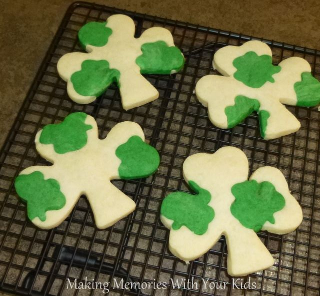 Clover in Clover Butter Shortbread Cookies for St. Patrick's Day