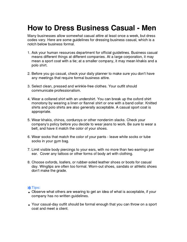 business casual dress code policy all dress
