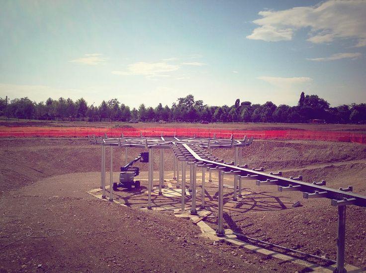 """#Oxygen: una """"colonna vertebrale"""" in acciaio che da Via Campestre a Bresso raggiunge il centro dei #Giardini della #Scienza."""