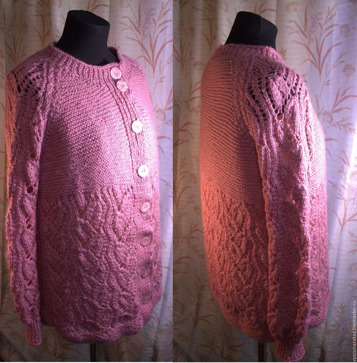 Купить Кардиган Чайная Роза - комбинированный, разноцветный, кофта вязаная, кардиган вязаный, женская одежда