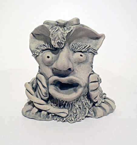 Lucy One Of A Kind Art - Stone Elf Sculpture by Robin Harley - FREE SHIPPING WORLDWIDE! http://robinharley.net/