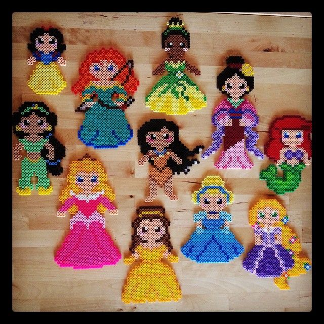 Disney Princess perler beads by epicquests4crafts