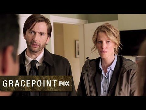 "Official Trailer for ""Gracepoint"" (remake of the hit UK series ""Broadchurch"") starring David Tennant (and his American accent!)"