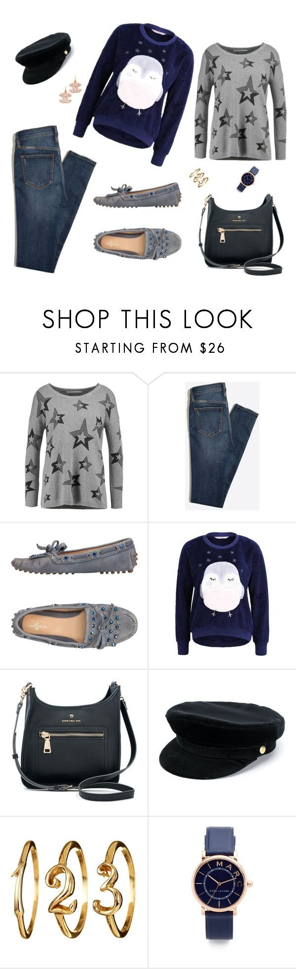 """""""owl sweater"""" by marlenewelke ❤ liked on Polyvore featuring Carshoe, Spartina 449, Manokhi and Marc Jacobs"""