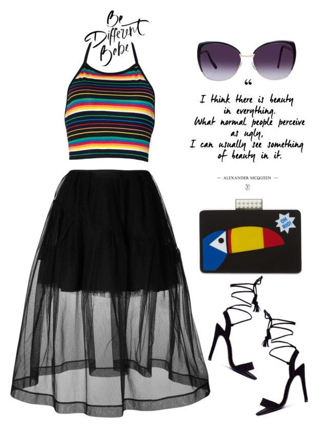 """Be Different Babe"" by latoyacl ❤ liked on Polyvore featuring Simone Rocha, Les…"