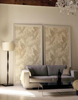 Great Idea For An Apartment Since You Cant Paint The Walls Framed Wallpaper