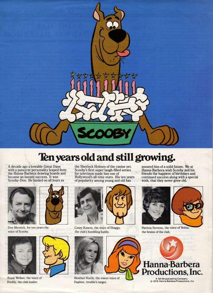 Scooby-Doo by Hanna-Barbera 10th Anniversary Ad, 1979