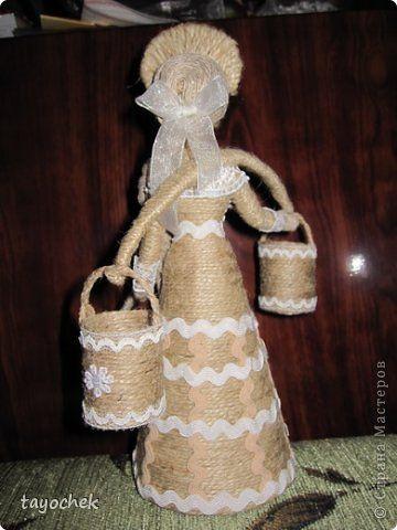 Куклы Оберег 8 марта День рождения Моделирование конструирование Шитьё Подарок для  любимой Клей Кружево Ткань Шпагат фото 3